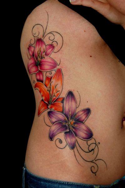 flowers and butterflies gallery tattoo zentrum l beck. Black Bedroom Furniture Sets. Home Design Ideas